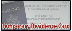 Vietnam Temporary Residence Card
