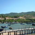 Visiting the charming Vinh Hy Bay