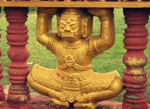 The beauty of Khmer Temple Monivongsa Bopharam in Ca Mau Province